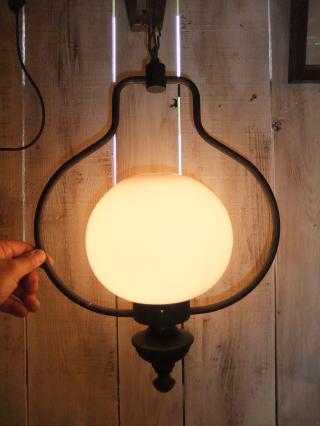 1970'sオイルランプ風ペンダント アンティーク照明 ビンテージ ランプ 福岡