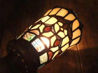 ステンドグラスブラケット アンティーク照明 ランプ ライト トレモロ