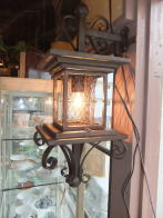 1960s日本製和風網ブラケットライト 玄関灯 アンティーク照明 ビンテージ ランプ 福岡