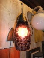 1950s日本製ガラスパープルブラケットライト アンティーク照明 ビンテージ ランプ 福岡