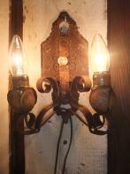 1900s米国製アイアンブラケットライト アンティーク照明 ビンテージ ランプ 福岡
