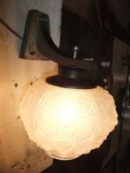 1970s日本製すりガラスブラケットライト アンティーク照明 ビンテージ ランプ 福岡