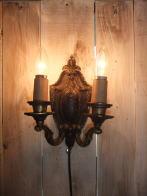 1930s米国製真鍮ブラケットライト アンティーク照明 ビンテージ ランプ 福岡