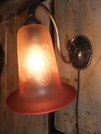 1900sフランス製腐食ガラスブラケットライト アンティーク照明 ビンテージ ランプ 福岡