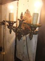 1920s米国製真鍮ブラケットライト2灯 アンティーク照明 ビンテージ ランプ 福岡