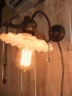 1920s米国製カスタムペチコートブラケットライト アンティーク照明 ビンテージ ランプ 福岡