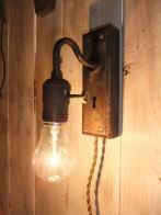 アンティークオリジナルブラケット2照明  ビンテージライト ランプ 福岡