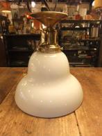 ミルクガラスの天井灯 アンティーク照明 ライト ランプ 福岡