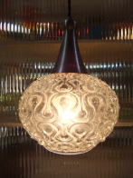 日本製 1970sアンティーク照明 ビンテージペンダントライト 幾何学模様 ランプ 福岡