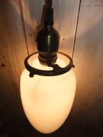 米国製 1980sアンティーク照明 ビンテージペンダントライト ミルクガラスロケットランプ 福岡