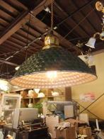 日本製 1950sアンティーク照明 ビンテージペンダントライト 霰アルミシェード ランプ 福岡
