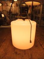 米国製 1940sアンティーク照明 ビンテージミルクガラスペンダントライト ランプ 福岡