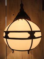 和風アンティーク照明 ビンテージペンダントライト 房付擦りガラス ランプ 福岡