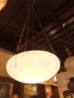 英国製 1940sアンティーク照明 ビンテージペンダントライト フィッシュボウル ランプ 福岡