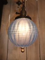 米国製 1950sアンティーク照明 ビンテージペンダントライト ブルーボウルシェード ランプ 福岡