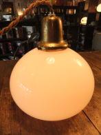 米国製 1950sアンティーク照明 ビンテージペンダントライト ミルクガラス ランプ 福岡