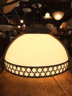 日本製 1900s和風アンティーク照明 ビンテージペンダントライト 銅巻シェード ランプ 福岡
