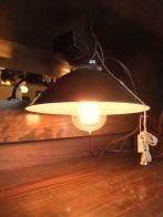 米国製 1960sアンティーク照明 米軍ライト インダストリアル ビンテージ ランプ 福岡