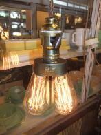 米国製 1950sアンティーク照明 インダストリアルツインライト ビンテージ ランプ 福岡