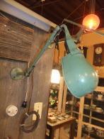 米国製 1950sグリーンアンティーク照明 インダストリアル ビンテージライト ランプ 福岡