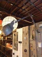 米国製 1950sグレーアンティーク照明 インダストリアル ビンテージライト ランプ 福岡