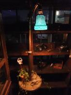 イギリス製1910sカスタムスタンドライト アンティーク照明 ビンテージライト デスクランプ 福岡