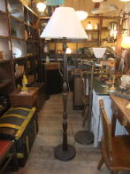 日本製 1950sフロア木製スタンドライト アンティーク照明 ビンテージライト デスクランプ 福岡