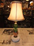 日本製 1960sスタンドカットガラスライト アンティーク照明 ビンテージライト デスクランプ 福岡