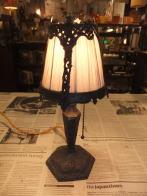 米国製1930s 真鍮製スタンドライト 布シェード アンティーク照明 ビンテージライト デスクランプ 福岡