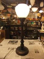 日本製 1940s木製スタンドライト ミルクシェード アンティーク照明 ビンテージライト デスクランプ 福岡