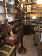 英国製1900s木製フロアスタンドライト アンティーク照明 ビンテージライト デスクランプ 福岡