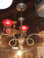 米国製 1900sアンティーク照明 シャンデリア ビンテージライト ランプ 福岡