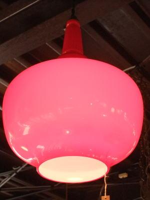 レッドペンダント 1枚目の写真 アンティーク照明 ランプ 福岡