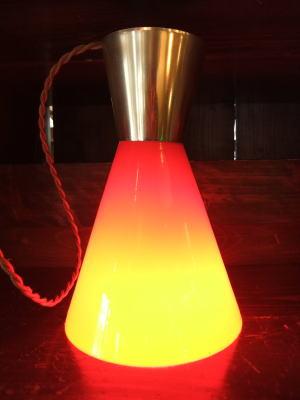 レッドペンダント 6枚目の写真 アンティーク照明 ランプ 福岡