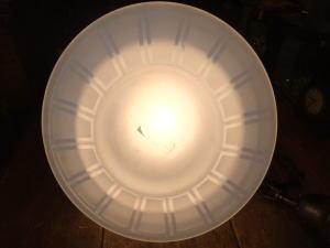 大正ロマンブルーペンダントライト 写真5枚目 アンティーク照明 ビンテージ ランプ 福岡