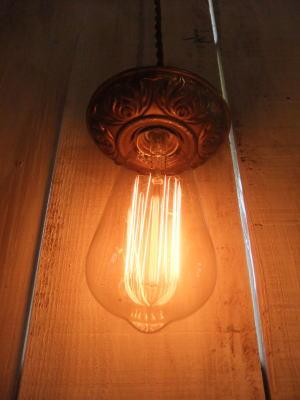 米国製 1920sアンティーク照明 ビンテージペンダントライト フラワーカバーランプ 写真5枚目