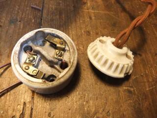 米国製1900sアンティーク照明 ビンテージペンダントライト ミルクシェード シーリング ランプ 福岡 写真5枚目