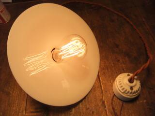 米国製1900sアンティーク照明 ビンテージペンダントライト ミルクシェード シーリング ランプ 福岡 写真8枚目