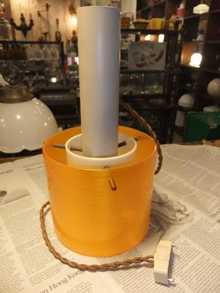 1970'sオレンジペンダントライト 写真5枚目 アンティーク照明 ビンテージ ランプ 福岡