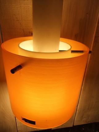 1970'sオレンジペンダントライト 写真2枚目 アンティーク照明 ビンテージ ランプ 福岡