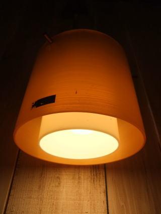 1970'sオレンジペンダントライト 写真3枚目 アンティーク照明 ビンテージ ランプ 福岡