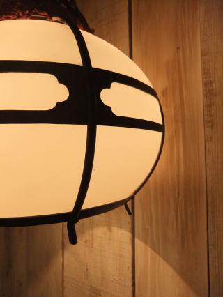 和風擦りガラスペンダントライト 写真3枚目 アンティーク照明 ビンテージ ランプ 福岡