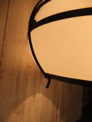 和風擦りガラスペンダントライト 写真2枚目 アンティーク照明 ビンテージ ランプ 福岡