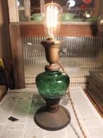 1950sオイルランプ風スタンドライト アンティーク照明 ビンテージライト デスクランプ 福岡