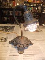 オリジナル鶴首スタンドライト アンティーク照明 ビンテージライト デスクランプ 福岡