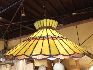 1970'sステンドグラスペンダントライト アンティーク照明 ビンテージ ランプ
