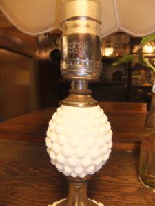 1950'sポーセリンランプ デスクスタンド  写真9枚目 アンティーク照明 ビンテージ ランプ