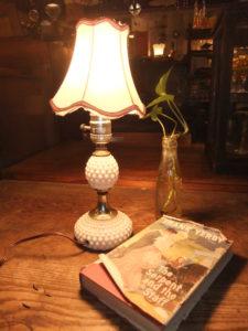 1950'sポーセリンランプ デスクスタンド  写真1枚目 アンティーク照明 ビンテージ ランプ