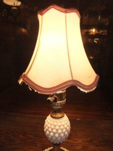 1950'sポーセリンランプ デスクスタンド  写真3枚目 アンティーク照明 ビンテージ ランプ