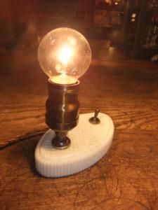 ポーセリンスタンド デスクスタンド 写真2枚目 アンティーク照明 ビンテージ ランプ